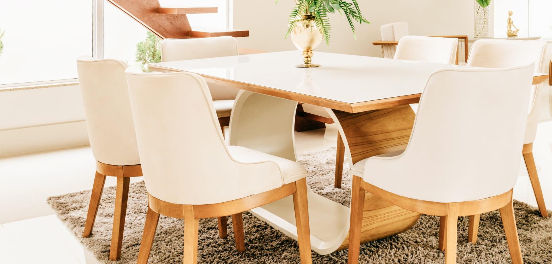 Lightwood rustic dining room
