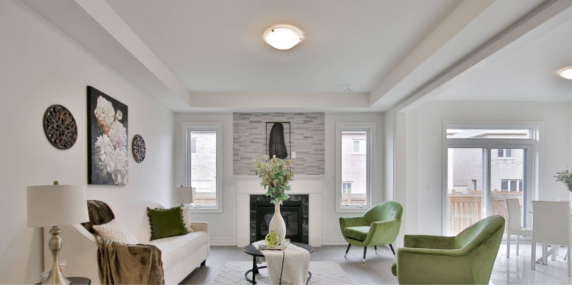 Modern light living room stock