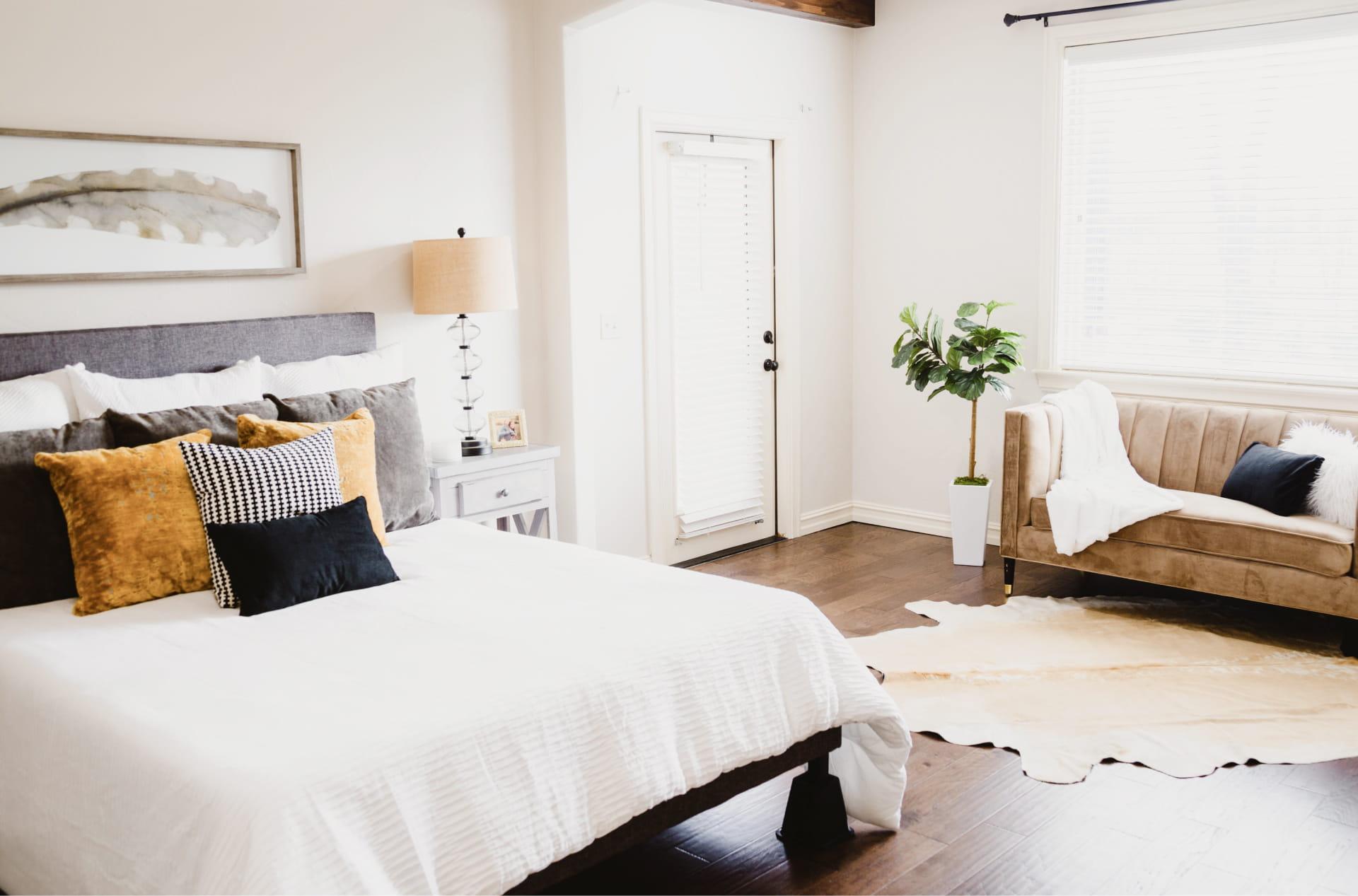 White themed bedroom